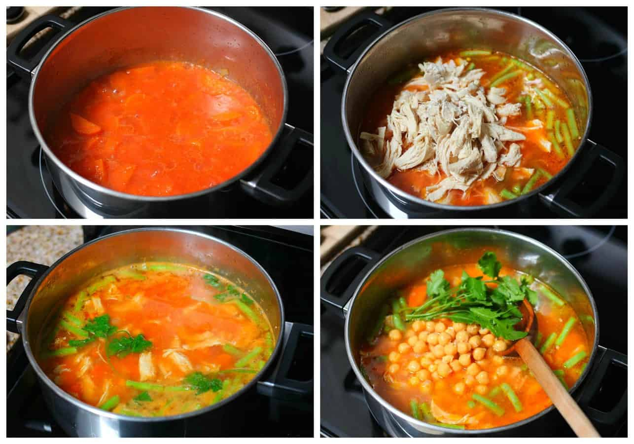 Caldo tlalpeño chicken vegetables soup mexican recipe - 17