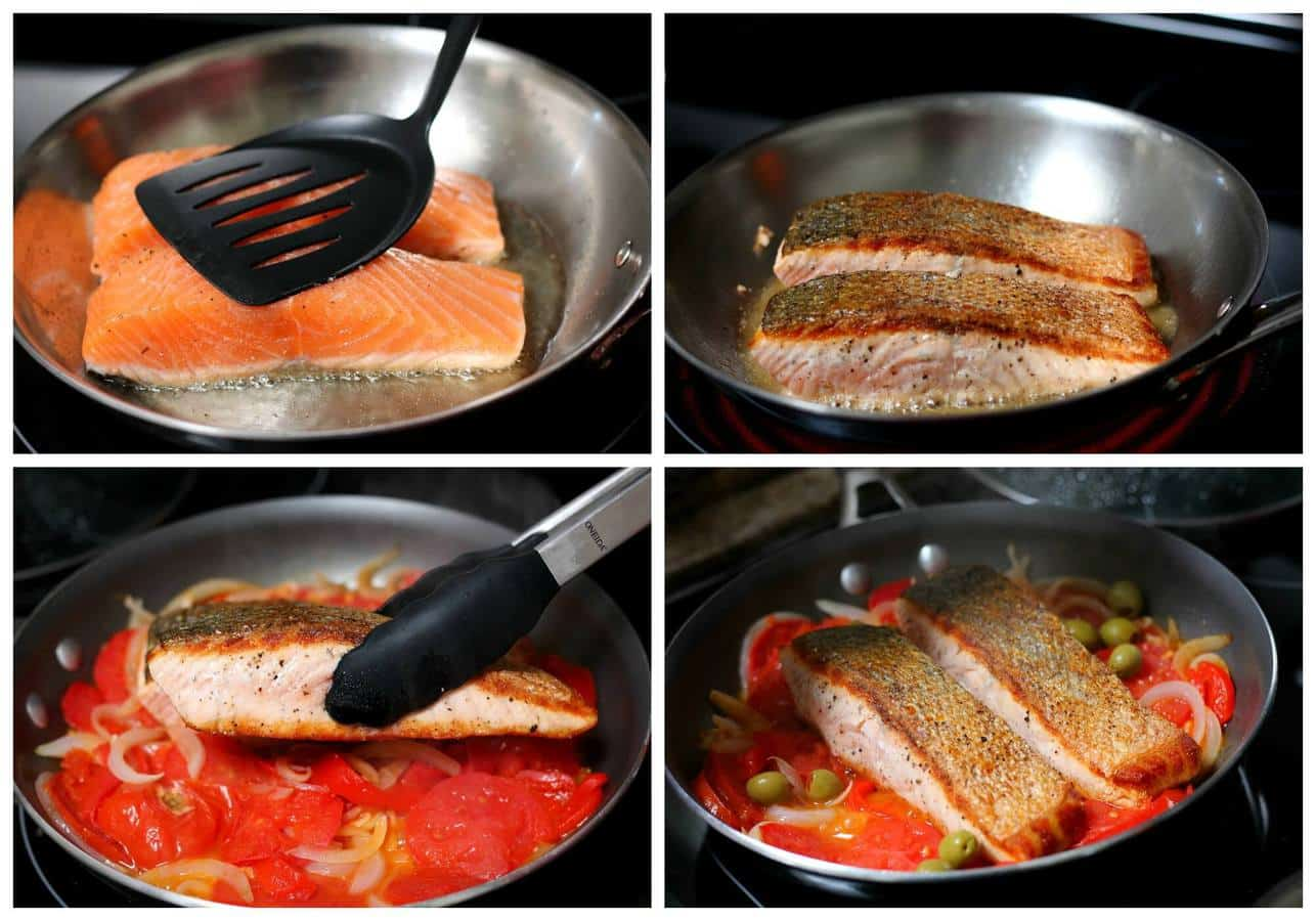 How to make salmon in tomato sauce - 2