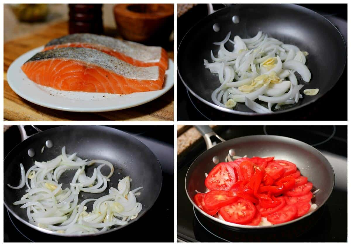 Salmon in tomato sauce process - 8