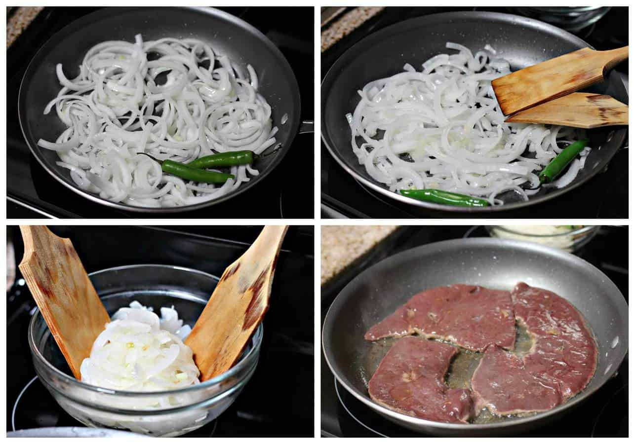 liver and onions recipe in frying pan