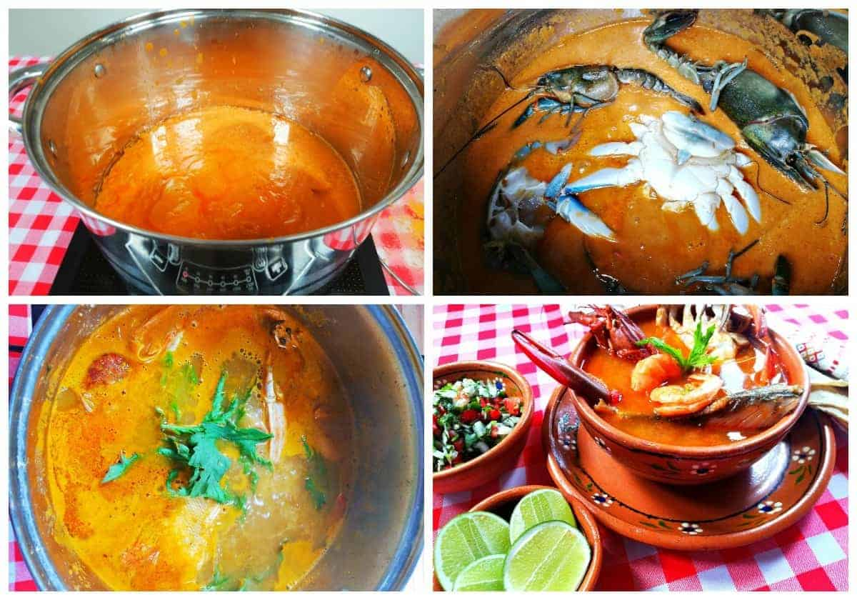 how to make seafood soup mexican recipe caldo de mariscos