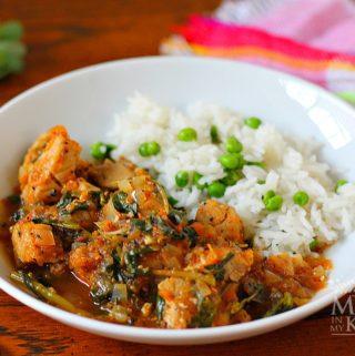 pork stew with purslane - 3