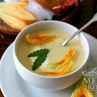 squash blossom cream soup