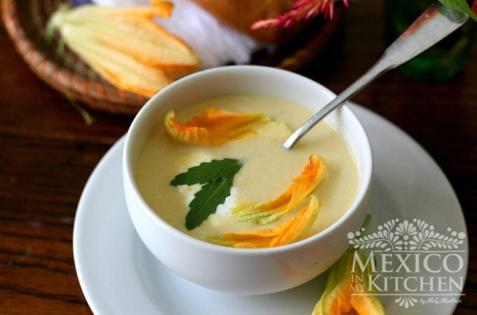 squash blossom cream soup