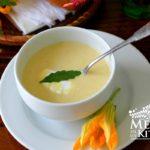 squash blossom and squash soup