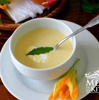 squash blossom and squash soup