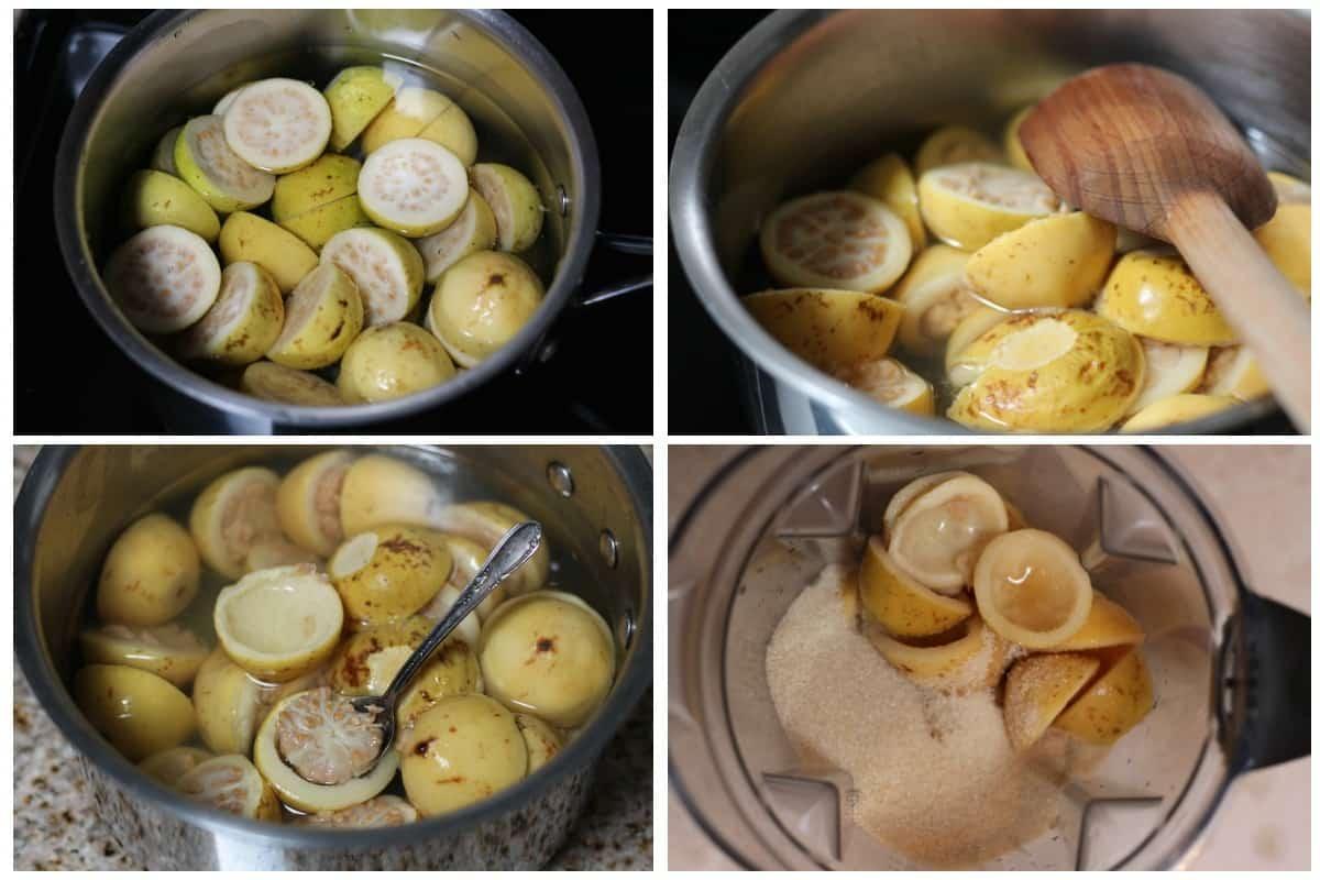 Guava jam preparation -1