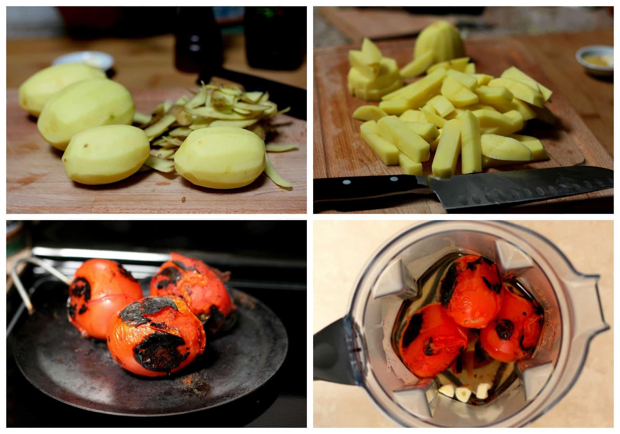 Potato soup process