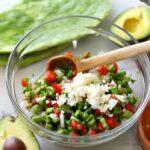 Raw Nopales salad