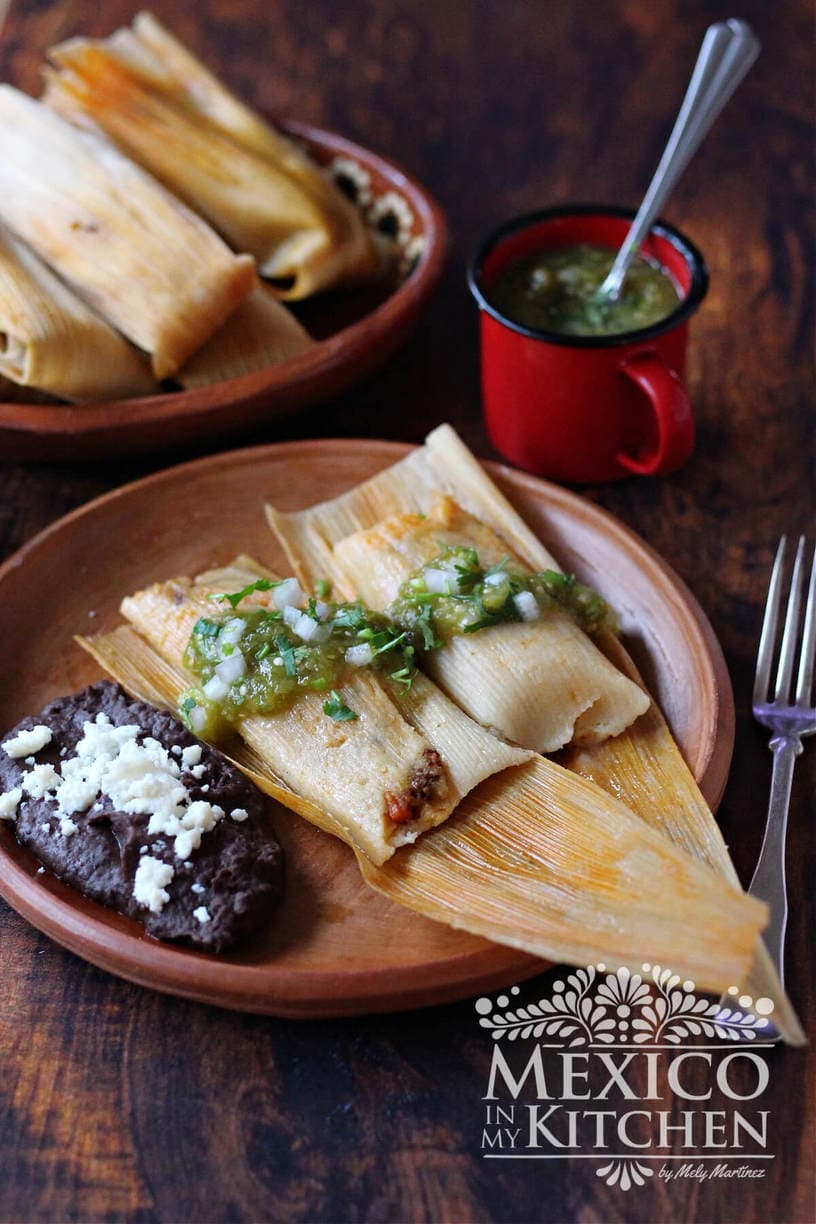 Beef tamales recipe with green salsa