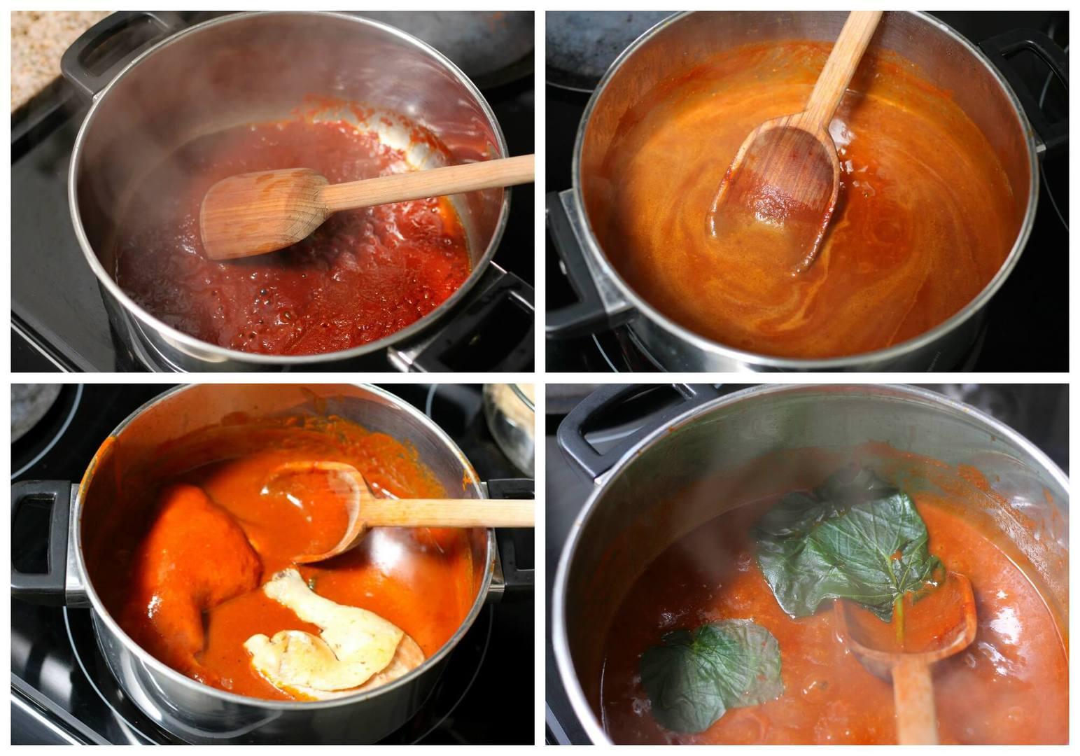 Cooking Mole Amarillo