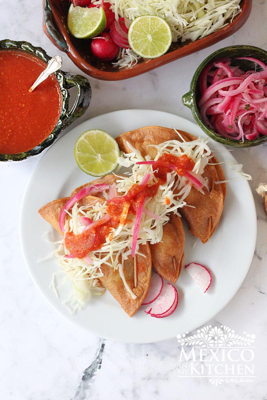Cod fish crispy tacos