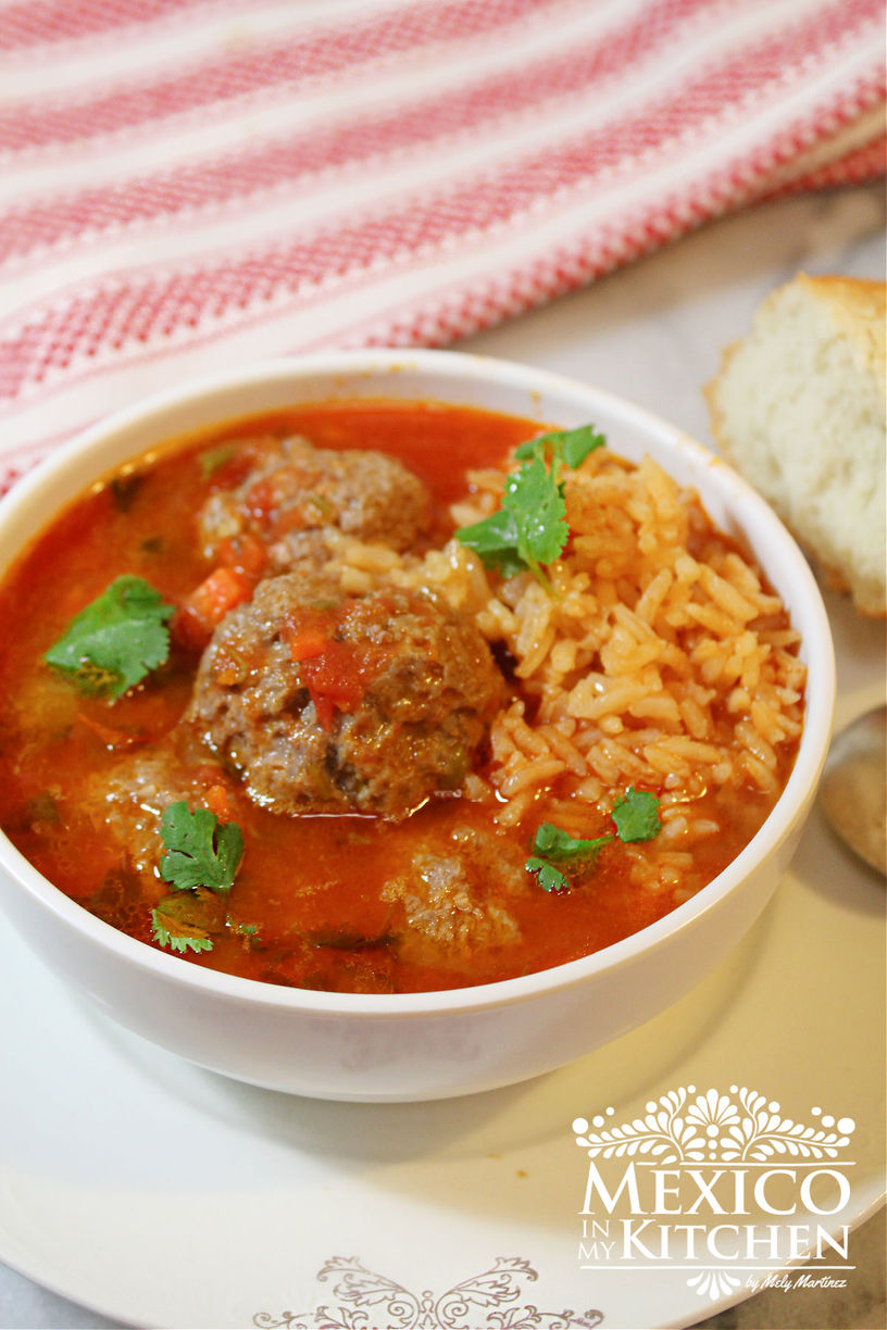 Authentic Mexican Meatball soup